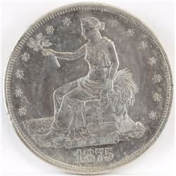 1875 CC Seated Liberty Dollar.