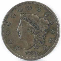 1837 Coronet Head Large Cent.
