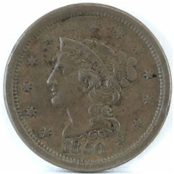 1856 Braided Hair Large Cent - Slanted 5.