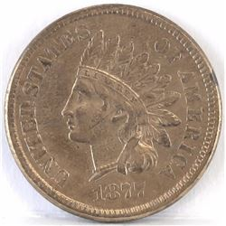 1877 Indian Head Cent.