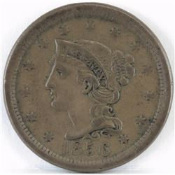 1856 Braided Hair Large Cent - Upright 5.