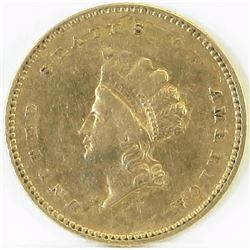1854 Ty.2 $1 Indian Princess Gold.