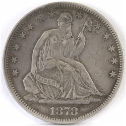 1878 Seated Liberty Half Dollar.