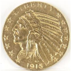 1915 S $5 Indian Gold.