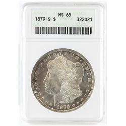 1879 S Morgan Dollar. ANACS Certified MS65.