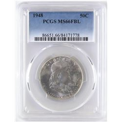 1948 Franklin Half Dollar. PCGS Certified MS66FBL.