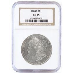 1884 S Morgan Dollar. NGC Certified AU55.