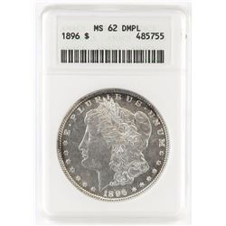 1896 Morgan Dollar. ANACS Certified MS62DMPL.