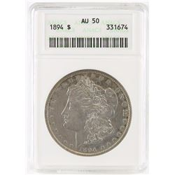 1894 Morgan Dollar. ANACS Certified AU50.
