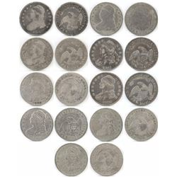 Lot of (9) Capped Bust Half Dollars includes 1812, 1823, 1826, 1828, 1829, 1832, 1833, 1834  1835.