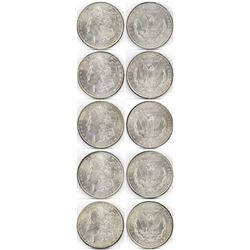 Lot of (5) 1899 O Morgan Dollars - VAM shows progression of die-cracks reverse.