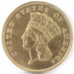 1878 $3 Indian Princess Gold.