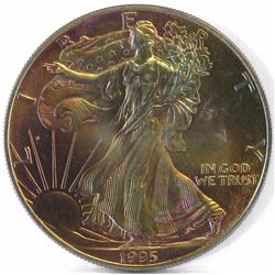 1995 American Silver Eagle 1oz. - Great Toning!