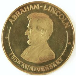 1809-1959 Abraham Lincoln Birthplace, Hodgenville, Kentucky, Gold Medal. 36mm. .900 fine 16.3 grams