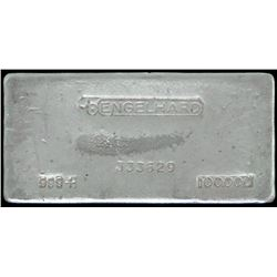 Engelhard 100oz. .999+ Silver ICR Tier 3 Legacy Ingot. Bull Hallmark with dot - Serial # 333629.