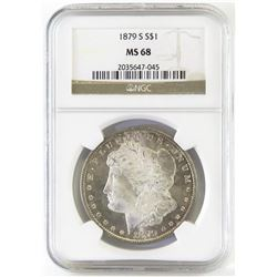 1879 S Morgan Dollar. NGC Certified MS68.
