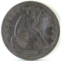 Proof: 1844 Seated Liberty Dollar - Proof.