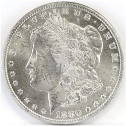 1880 CC Morgan Dollar - VAM-8 8/7 Dash.