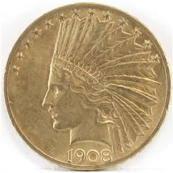 1908 $10 Indian Gold.