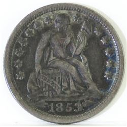 1853 O Seated Liberty Dime - with Arrows - breen 3281.