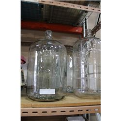 FOUR LARGE GLASS CARBOYS