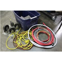 TOTE OF AIR HOSE CASTORS AND HOSE PROTECTORS