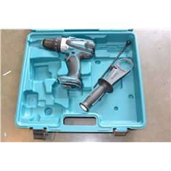 MAKITA CORDLESS HAMMER DRILL, NO BATTERIES OR CHARGER
