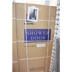 "CAML 31 1/2"" - 33 1/2"" X 64"" CHROME CLEAR GLASS SHOWER DOOR ASSEMBLY"