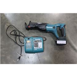 MAKITA CORDLESS 18 VOLT SAWZALL WORKING WITH CHARGER