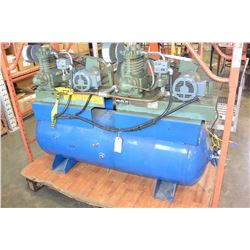 DEVILBISS 80 GALLON 575V COMPRESSOR WITH AIR DRIER AND STARTER WITH VIBRATING PADS WORKS