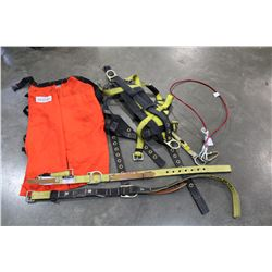 MSA SAFETY HARNESS AND CHAPS