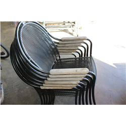 SET OF SIX STACKING PATIO CHAIRS NEW