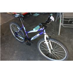 PURPLE AND BLUE HUFFY GRANITE MOUNTAIN BIKE