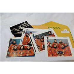 NASA PHOTOGRAPHS, POSTCARDS AND SHUTTLE MISSION PRESS PACK IN DEPARTMENT OF NATIONAL DEFENSE ENVELOP