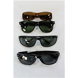 FOUR PAIR OF RAYBAN SUNGLASSES