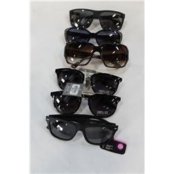 LOT OF SIX LOST PROPERTY SUNGLASS SOME NEW AND SOME POLARIZED