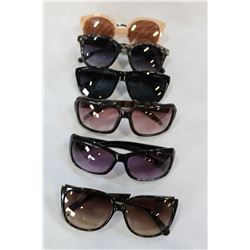 LOT OF SIX LOST PROPERTY DESIGNER SUNGLASSES GUESS NYGARD ETC