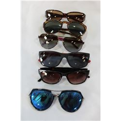 LOT OF SIX LOST PROPERTY DESIGNER SUNGLASSES DIOR AND NYGARD ETC