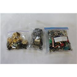 THREE BAGS OF VARIOUS ESTATE JEWELLRY