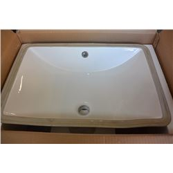 "ACRI-TEC NEPTUNE CERAMIC UNDER MOUNT RECTANGULAR SINK 22"" X 15"" X 7"""