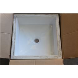 "ACRI-TEC NEPTUNE CERAMIC UNDER MOUNT RECTANGULAR SINK 18-1/8"" X 16-1/8"" X 6-7/8"""