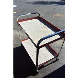 ROLLING 2-TIER SHOP CART
