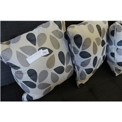 FOUR TEARDROP PATTERN PILLOWS