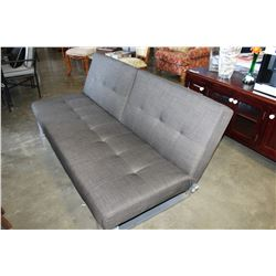NEW HOME ELEGANCE GREY FABRIC CLICK CLACK FOLDING SOFA BED RETAIL $899