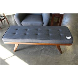 NEW HOME ELEGANCE MODERN GREY TUFTED BENCH, RETAIL $249
