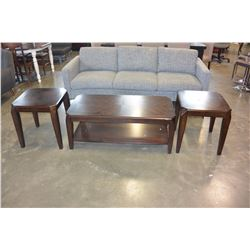 NEW HOME ELEGANCE 3 PIECE MODERN COFFEE TABLE SET, RETAIL $399