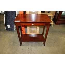 MAHOGANY FINISH 1-DRAWER ENDTABLE