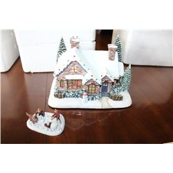 THOMAS KINKADE HAWTHORN VILLAGE HOME FOR THE HOLIDAYS WITH CERTIFICATE