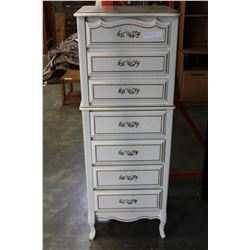 WHITE FRENCH PROVINCAL LINGERIE CHEST