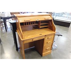WINNERS ONLY OAK ROLLTOP DESK
